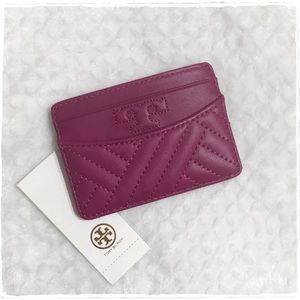 NWT! Tory Burch Alexa Card Case Holder - Fuschia